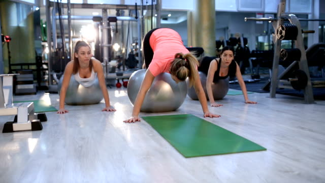 pilates ball work out went wrong - sports training drill stock videos & royalty-free footage
