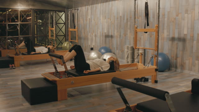 pilates room in health club - pilates stock videos and b-roll footage