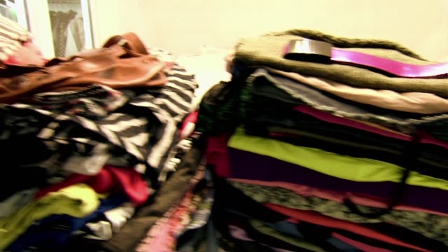 pile of clothes - bra stock videos & royalty-free footage