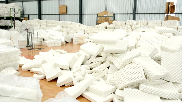pile of latex pillow in the warehouse - latex stock videos & royalty-free footage
