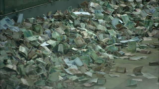 cu pile of money at mausoleum of ayatollah khomeini, tehran, iran - heap stock videos & royalty-free footage