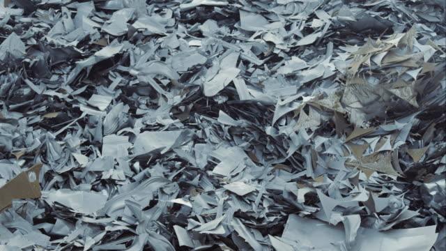 pile of scrap metal on junkyard - metal stock videos & royalty-free footage