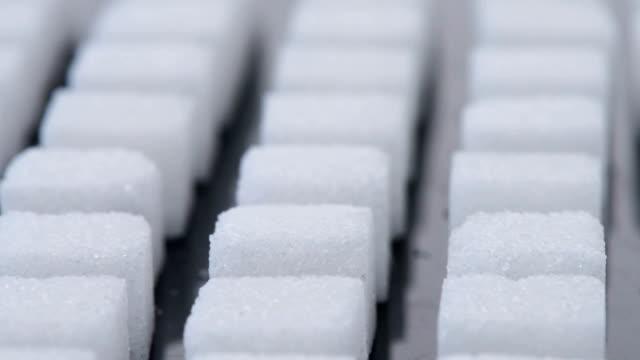 Haufen Zucker Würfel