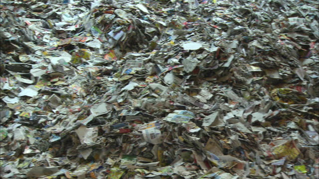 cu pan pile of waste paper / new york city, new york, usa - heap stock videos & royalty-free footage