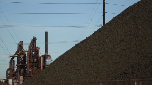 Piles of coal and infrastructure of the US Steel Corp Granite City Works steel mill in Granite City Illinois US on Wednesday Oct 25 2017 Photographer...