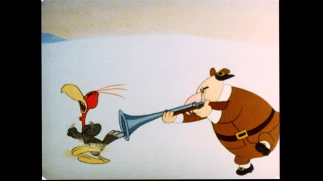 vidéos et rushes de pilgrim shooting at turkey - nez