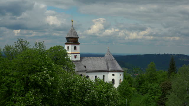 stockvideo's en b-roll-footage met pilgrimage church maria eck near siegsdorf, chiemgau, upper bavaria, bavaria, germany - bedevaart