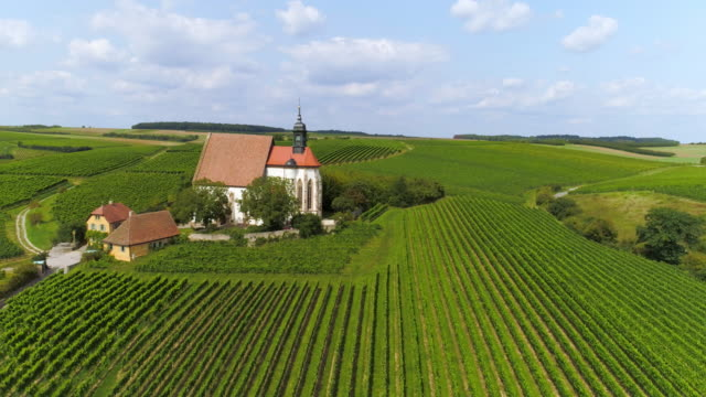 pilgrimage church maria im weingarten (st. mary in the vineyard) near volkach in franconia - deutschland stock-videos und b-roll-filmmaterial