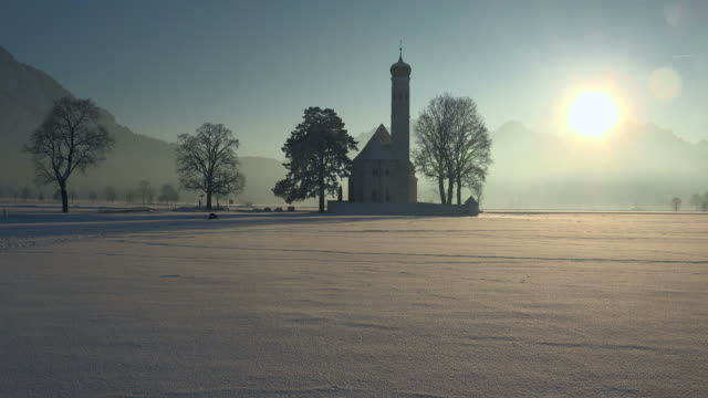 pilgrimage church st. coloman near schwangau, swabia, bavaria, germany - christianity stock videos & royalty-free footage