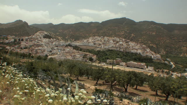 ws ha pilgrimage town named after moulay idriss, morocco - alm stock-videos und b-roll-filmmaterial