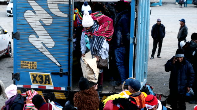 pilgrims begin to arrive for the start of the annual qoyllur rit'i festival on may 26 2018 in ocongate peru every year since 1783 in the sinakara... - religious celebration stock videos & royalty-free footage
