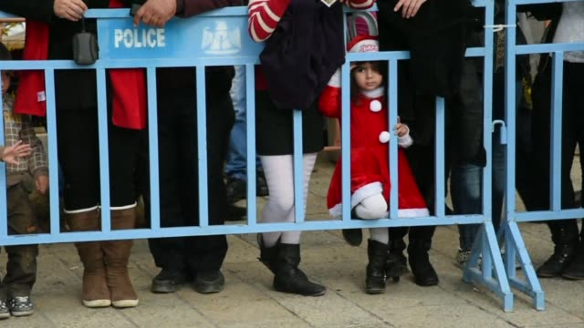 pilgrims from across the world descended on jesuss birthplace in bethlehem wednesday to begin the global celebration of christmas after a violence... - christianity stock videos & royalty-free footage
