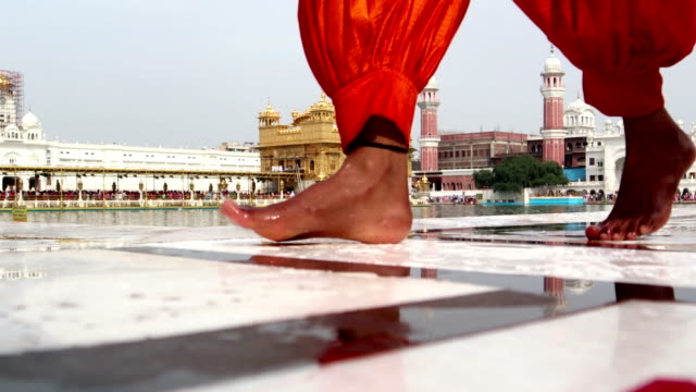 pilgrims in golden temple, punjab/india - punjab india stock videos and b-roll footage