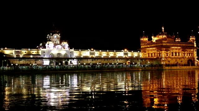 pilgrims in golden temple, time lapse - punjab india stock videos and b-roll footage