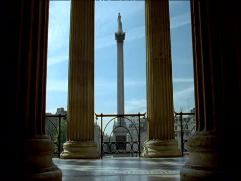 pillars and nelson's column trafalgar square london - nelson's column stock videos & royalty-free footage