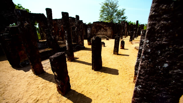 pillars cast shadows, sri lanka. - sri lankan culture stock videos & royalty-free footage