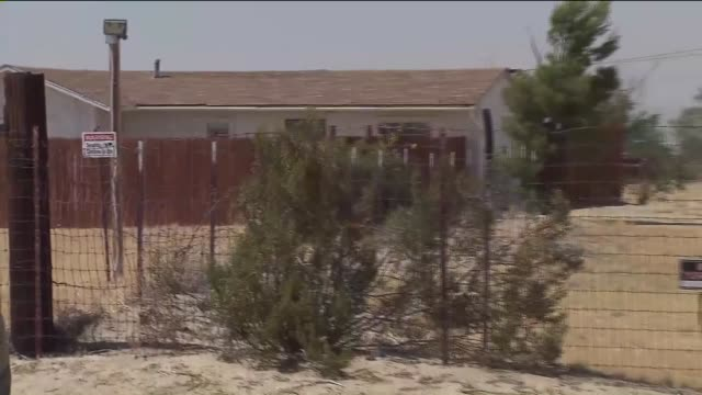 ktla'pillowcase rapist' christopher hubbart's home east of palmdale - palmdale stock videos and b-roll footage