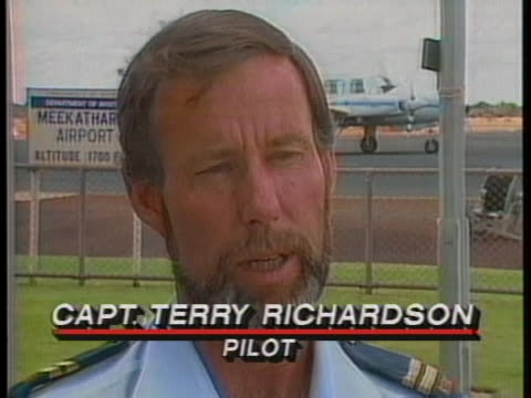 pilot captain terry richardson, says teamwork is always emphasized on the real-life australian television series called royal flying doctor service. - healthcare and medicine or illness or food and drink or fitness or exercise or wellbeing stock videos & royalty-free footage