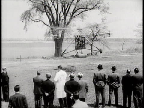 Pilot Igor Sikorsky takes a flight in the first successful helicopter