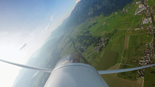 ld pilot in a glider doing stunts high in the air on a sunny day - glider stock videos & royalty-free footage