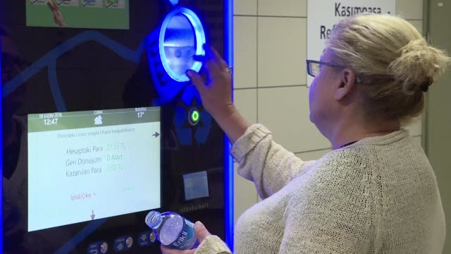 A pilot project in Istanbul is allowing metro users to pay for credit on travel cards by slotting plastic bottles instead of money into vending...