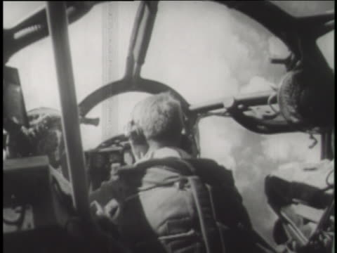 pilots drop an atomic bomb on a military target in a controlled test. - atomic bomb testing stock videos & royalty-free footage
