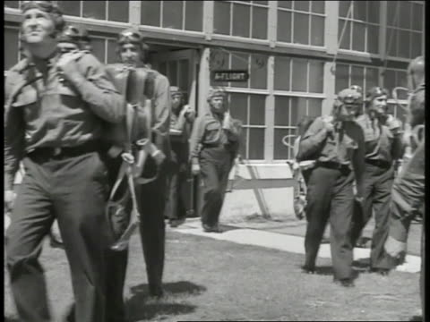 pilots leaving building navy officers boarding ship new recruits in suits standing in line turning in unison frame filled w/ american soldiers... - military recruit stock videos and b-roll footage