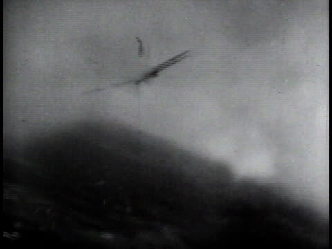 aerial pilot's view of an me 109 being shot down / europe - 1944 stock videos and b-roll footage