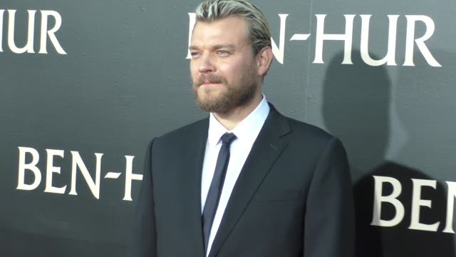 pilou asbaek at the premiere of paramount pictures' benhur at tcl chinese theatre in celebrity sightings in los angeles - paramount pictures stock videos and b-roll footage
