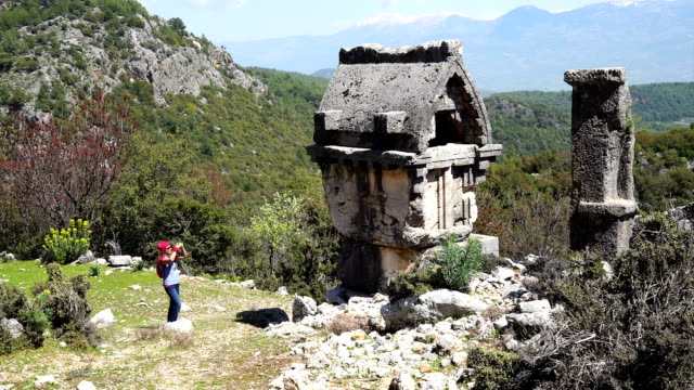 pinara ancient city from fethiye / turkey. - antiquities stock videos and b-roll footage
