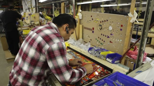 Pinball Machines Stern Pinball Manufacturing Assembly Line Stern Pinball Manufacturers on January 23 2013 in Melrose Park Illinois