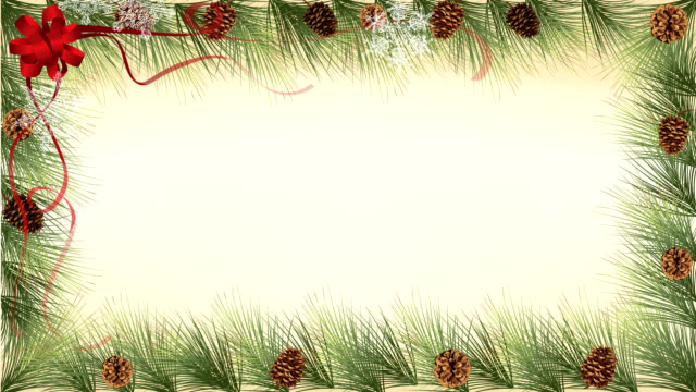 pine cones border - border stock videos & royalty-free footage