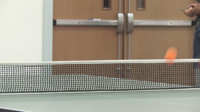 ping pong 4 - hd 30f - table tennis bat stock videos & royalty-free footage