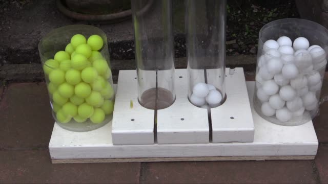 pingpong balls being used for people to vote yes or no to breaking away from the united kingdom a local newspaper the dundee courier is doing... - dundee scotland stock videos & royalty-free footage