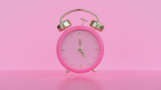 pink alarm motion 3d rendering - single object stock videos & royalty-free footage