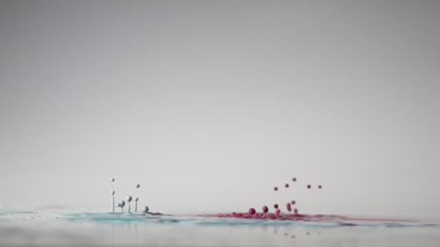 pink and blue dancing color with white background in slow motion - volume fluid capacity stock videos & royalty-free footage