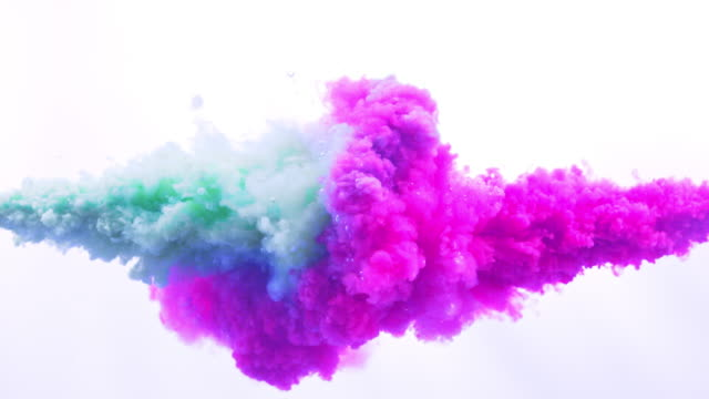 pink and blue ink splash in super slow motion - poster template stock videos & royalty-free footage