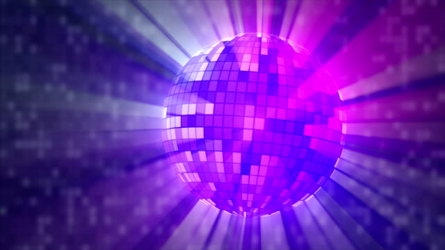 pink and bue ball party lights LOOP