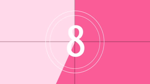 4k pink and white - countdown animation - pink colour stock videos & royalty-free footage