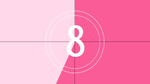 4k pink and white - countdown animation - countdown stock videos & royalty-free footage