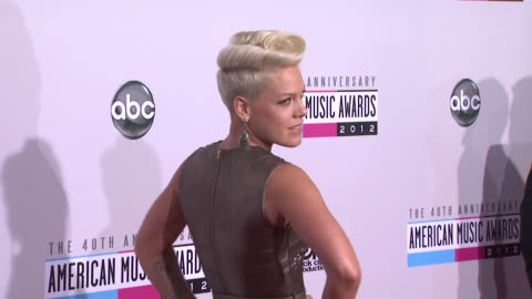 pink at the 40th american music awards - arrivals on in los angeles, ca. - american music awards stock videos & royalty-free footage