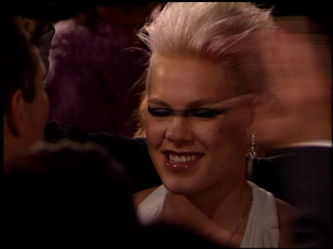 pink at the bmg grammy awards party arrivals on february 25, 2002. - 歌手 ピンク点の映像素材/bロール