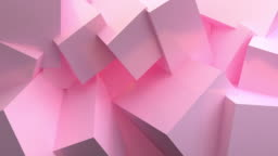Pink Ball Abstract 3d rendering of looped animation with geometric shapes. Motion design, 4k UHD