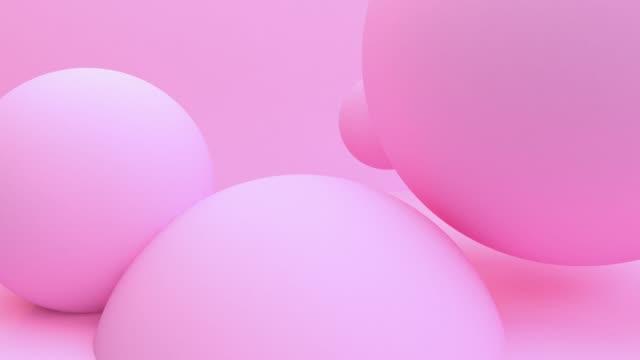 pink balloon schweben deiner bewegung 3d-rendering für hintergrund. konzept: abstrakter hintergrund , bewegungsgrafik , party. - kugelform stock-videos und b-roll-filmmaterial