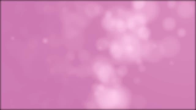 vídeos de stock, filmes e b-roll de fundo abstrato do efeito bokeh rosa vídeo stock de 4k - fundo rosa