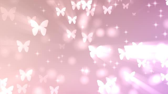 Rosa Schmetterling Hintergrund (Endlos wiederholbar)