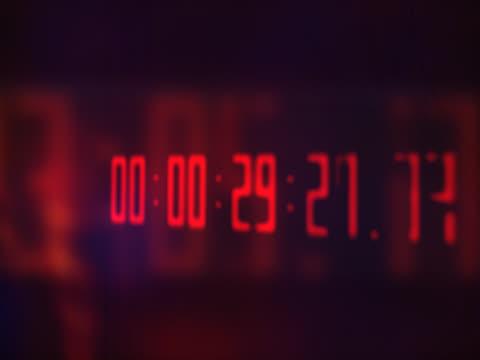 pink clock counter - hinweisschild stock-videos und b-roll-filmmaterial