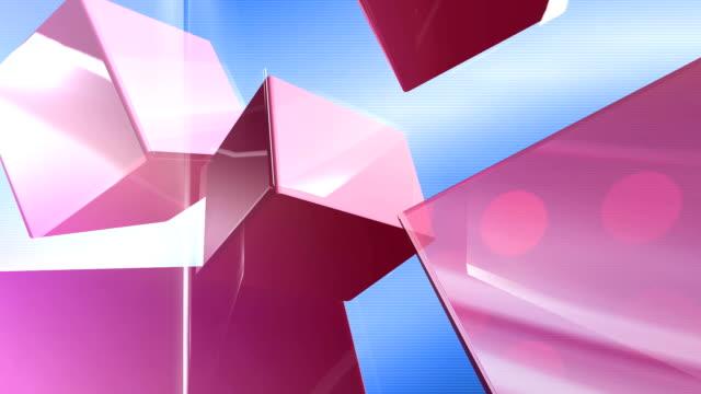 vídeos de stock e filmes b-roll de fundo de cubos-de-rosa - cubo