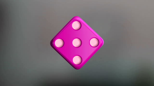 pink dice rotation - dice stock videos & royalty-free footage
