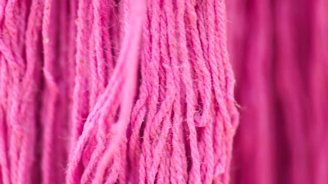 Pink dye cotton thread fabric for sewing.